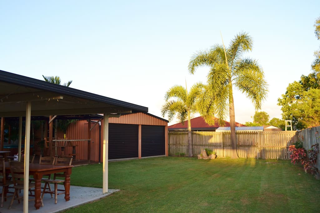 Our back yard is fully fenced and lockable and fantastic for kids and families.