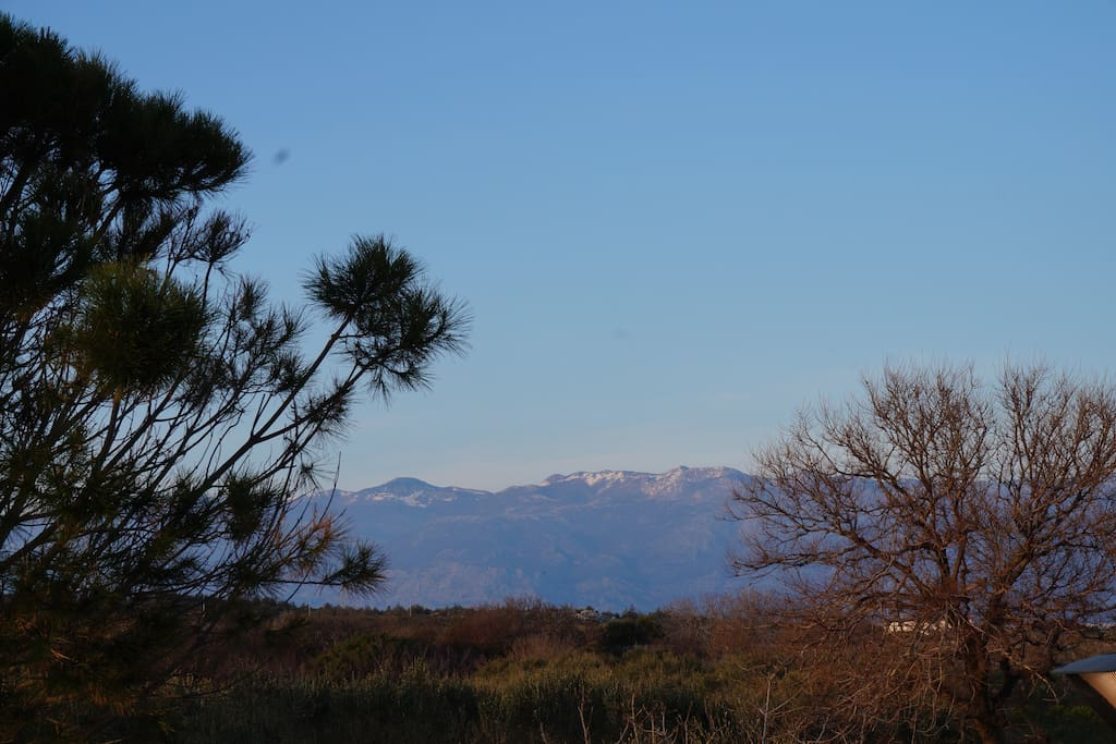 View on mountain Velebit at the entrence.