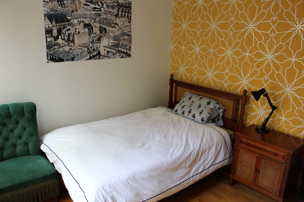 The room with 2 persons bed