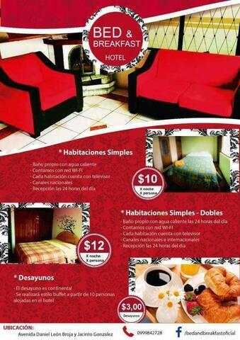 Hotel economico y limpio n Riobamba - Riobamba - Bed & Breakfast