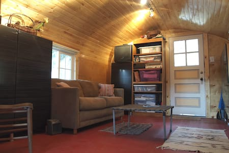 Room type: Entire home/apt Bed type: Pull-out Sofa Property type: Cabin Accommodates: 2 Bedrooms: 1 Bathrooms: 0.5
