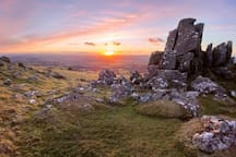 Stunning views of Dartmoor National Park