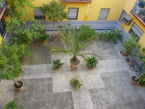 Habitacion en un patio de Triana