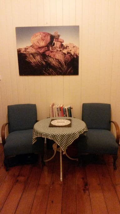 Apartment comprises three rooms, bedroom, bathroom and large kitchen.