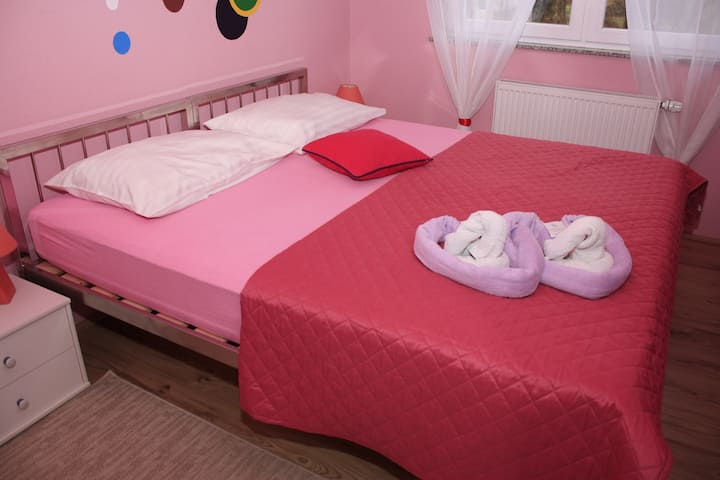 Room with cute design, newly built