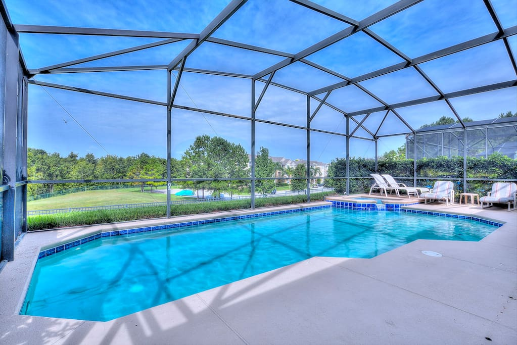 Make hundreds of happy memories to cherish forever of your fabulous vacation in and around this crystal clear pool under the Florida sunshine!