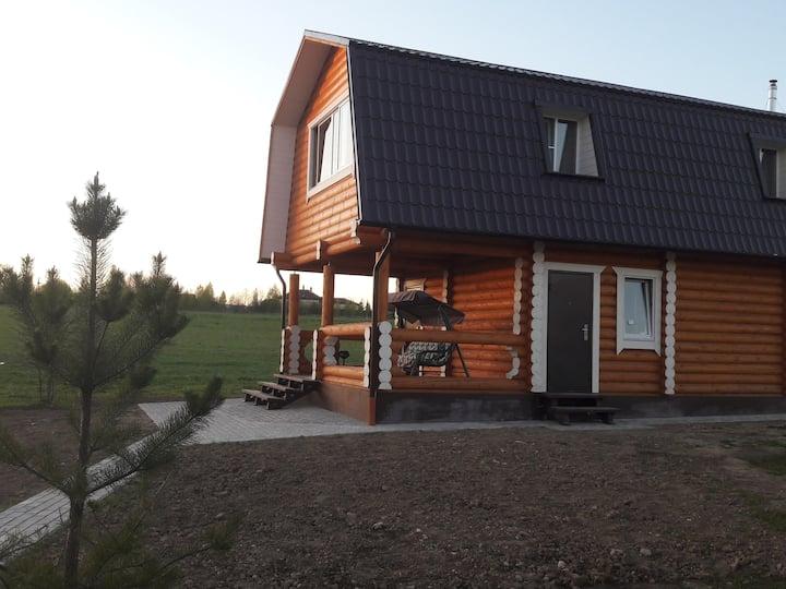 Дом с баней на частной ферме