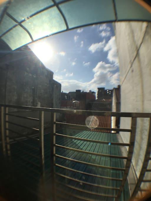 太陽公公常常來串門