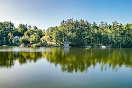 Darling studio over boathouse on Lake Kanasatka