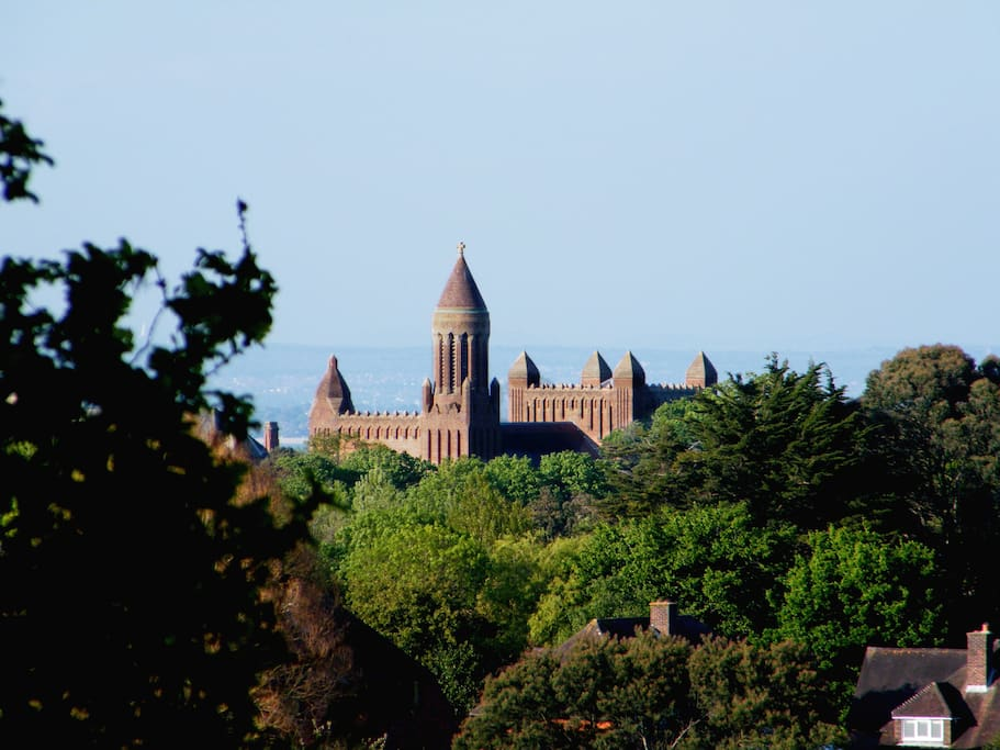 View of Quarr Abbey