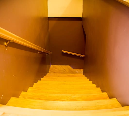 Stairs to the lower level.