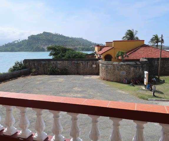 From the balcony you can enjoy the view towards this Spanish construction (La Punta Fort) La Punta aims to impress with well-prepared, garnished food in the lovely historical surrounds of the La Punta fort. Go on a Saturday night for live music.
