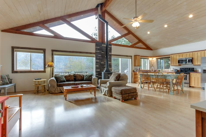 Roomy & secluded home w/ river views, private dock, & huge waterfront deck