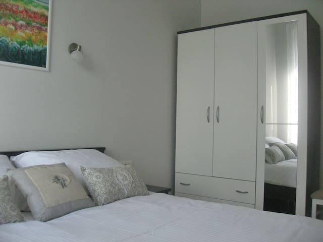 Bedroom with spacious closet