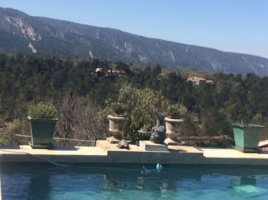 View of Luberon Range from Pool terrace