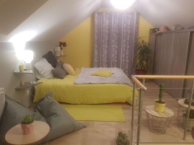 Petite maison cosy pour 2 ou 4 /2km circuit Bresse