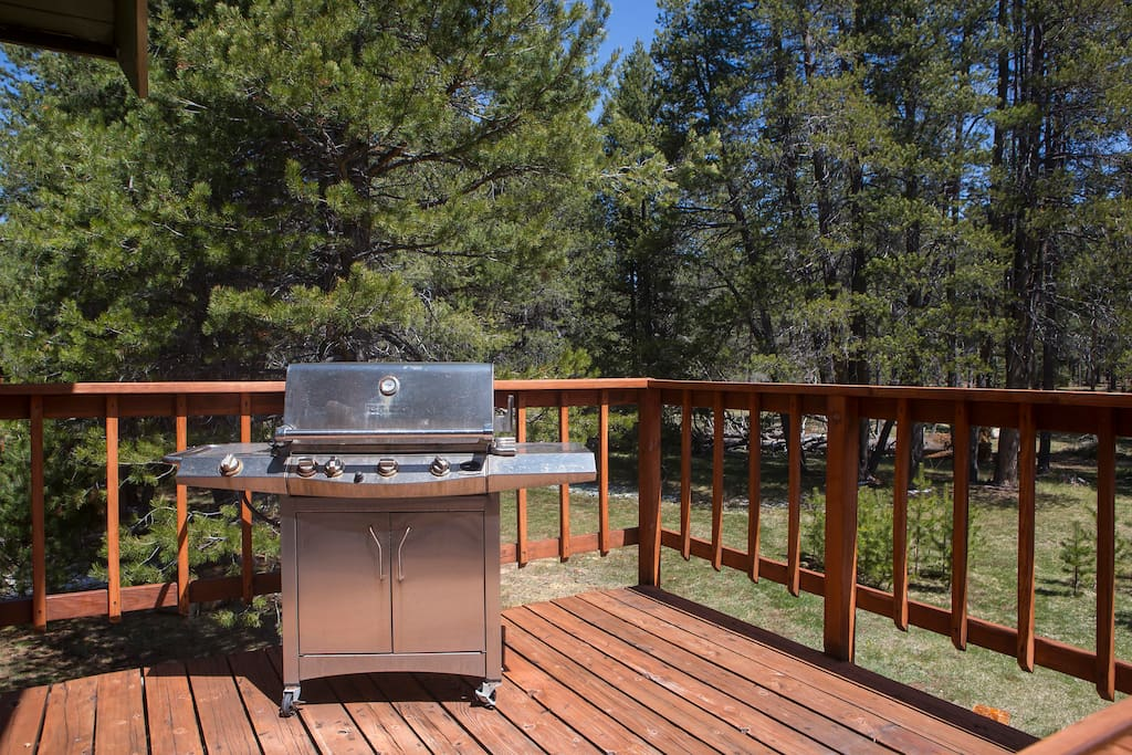 Upstairs deck grill