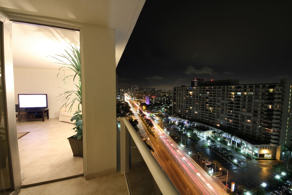 Actual View to the South-West side of the Balcony @ night!