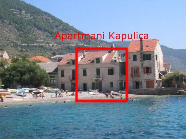 Komiza, Vis, Apartment on the Beach