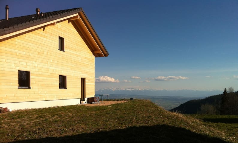 Fantastic view over the Alps - Les Rasses - Penzion (B&B)