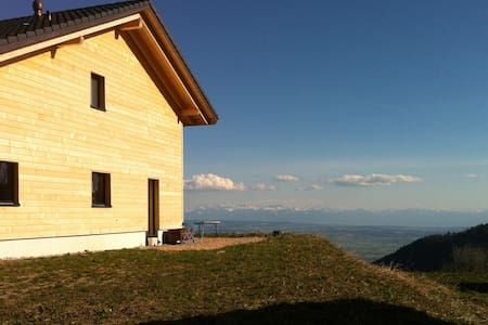Fantastic view over the Alps - Les Rasses - Aamiaismajoitus