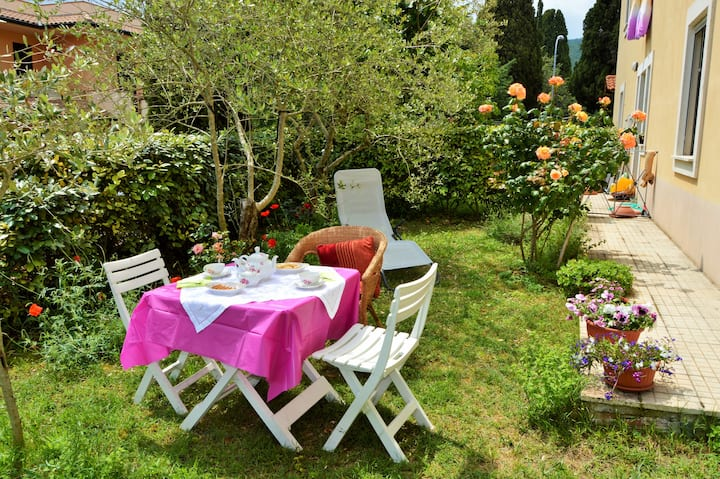 Casa con giardino in Val D'Orcia