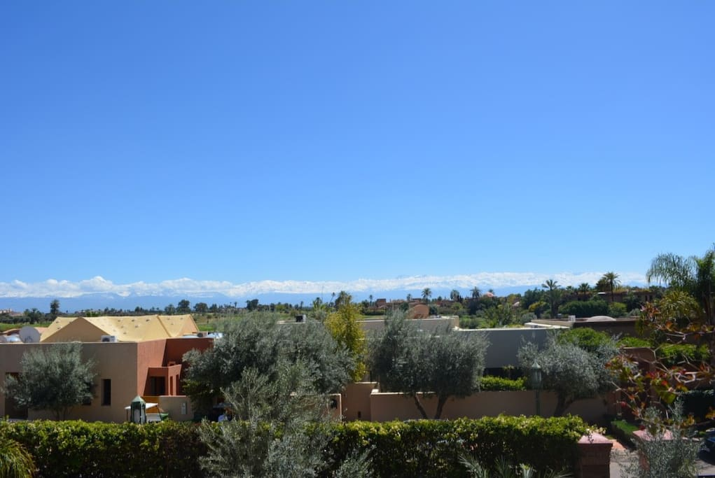 View from the house of the Atlas Montains