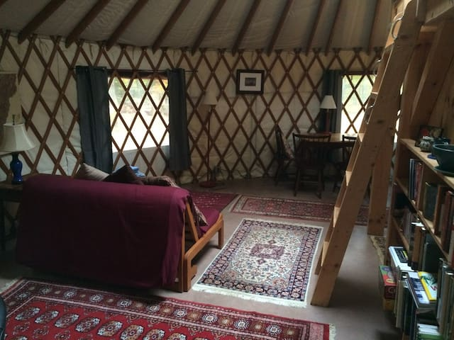 Cozy yurt getaway with sauna - Bristol - Yurt