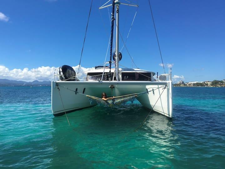 Cabine double en catamaran d'hôte (toilette privé)
