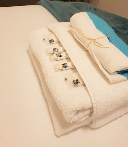 Fresh fluffy towels and clean Linen