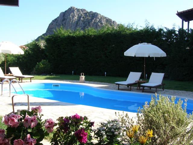 Villa Private pool bbq wifi 5' sea - Agia Paraskevi - Villa