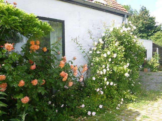 Studio in kunstenaarswoning met grote tuin,