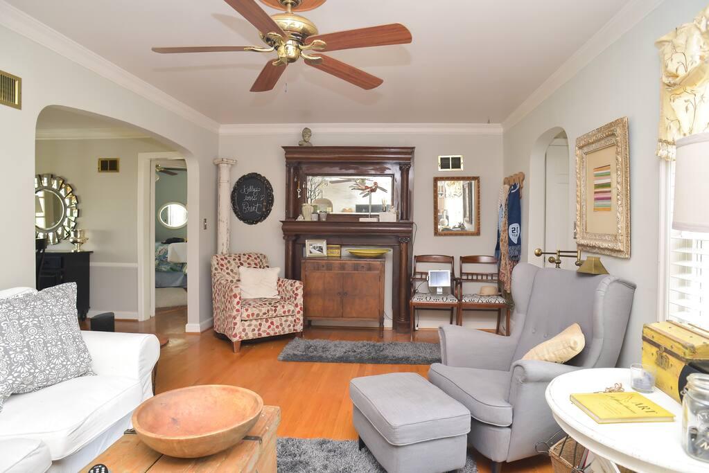 Comfortable charming living room.