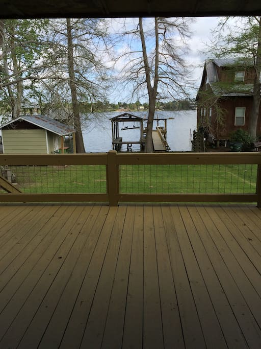 Beautiful views from the partially covered deck