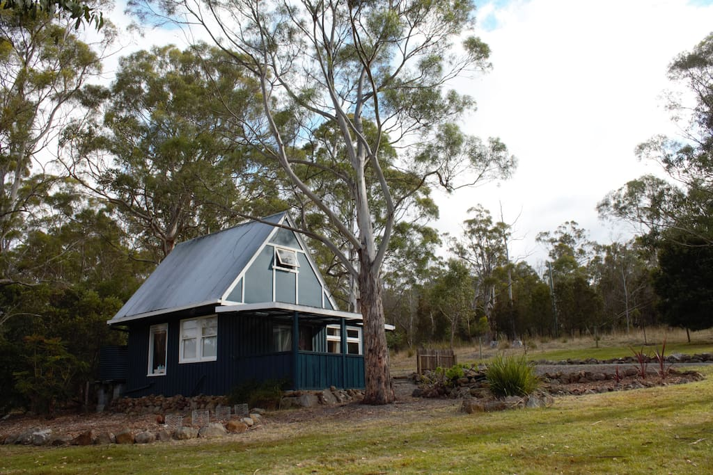 Peace and privacy, nestled between the paddock, the bush and our large lawned area.
