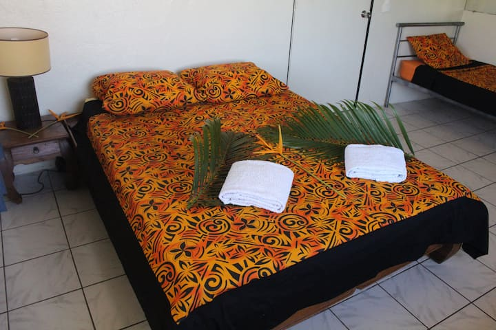 CHAMBRE D'HÔTES - Tahiti - 200m beach - FREE WIFI