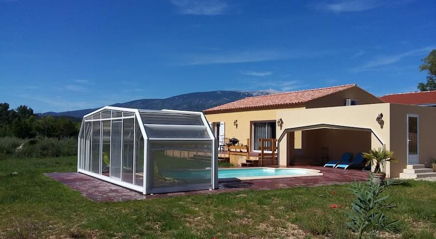 Villa 84 sqm heated pool with cover - Villes-sur-Auzon