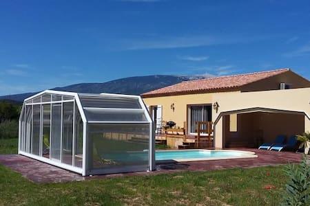 Villa 84 sqm heated pool with cover - Villes-sur-Auzon