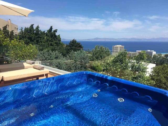 Fly View Flats BLUE !!! Jacuzzi Sea View