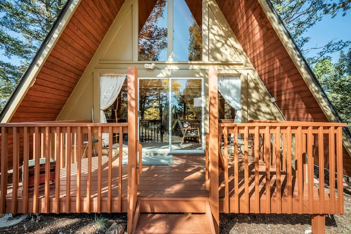☀Cabin with Mtn Views☀ A-Frame Nature Getaway