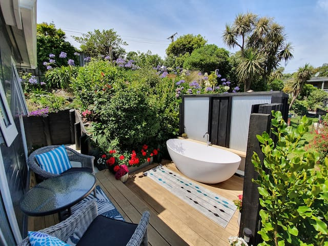 The Beach Pod + Luxury Outdoor Bath