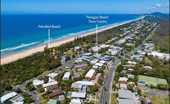 Peaceful, private Peregian Beach at your doorstep