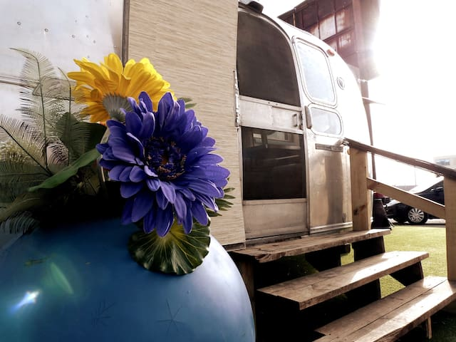 Swanky Airstream blocks from downtown