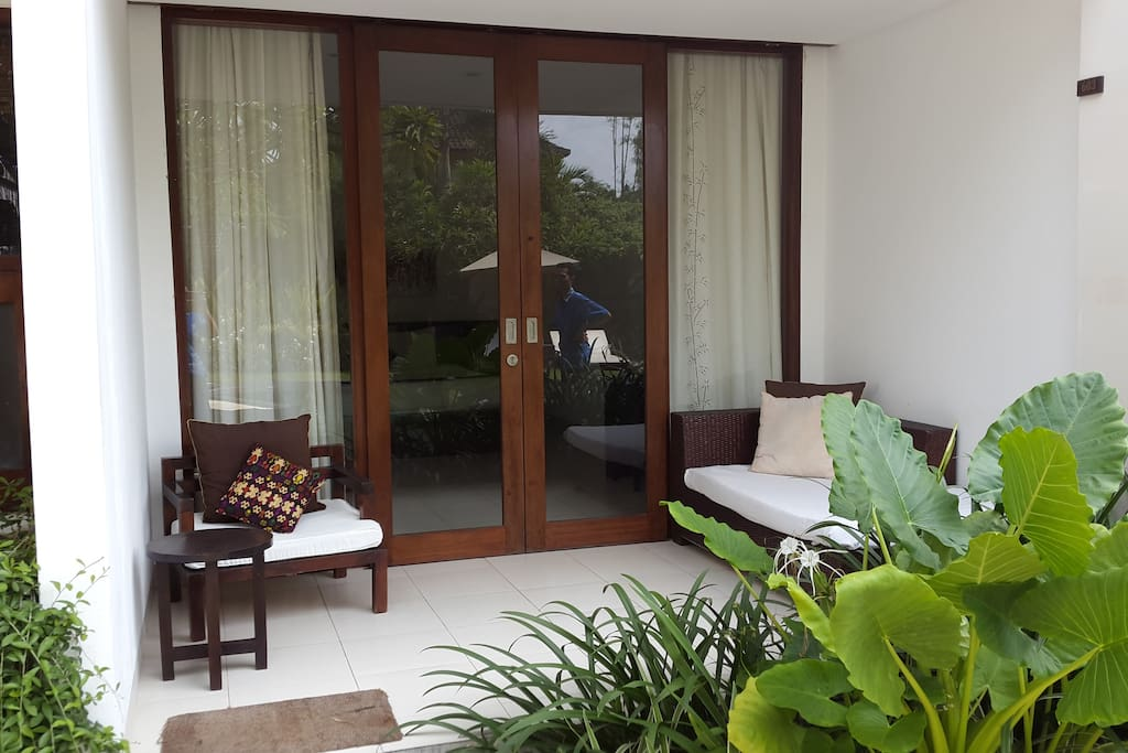 Private balcony at deluxe room