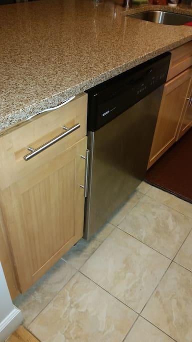 Dishwasher and granite counters