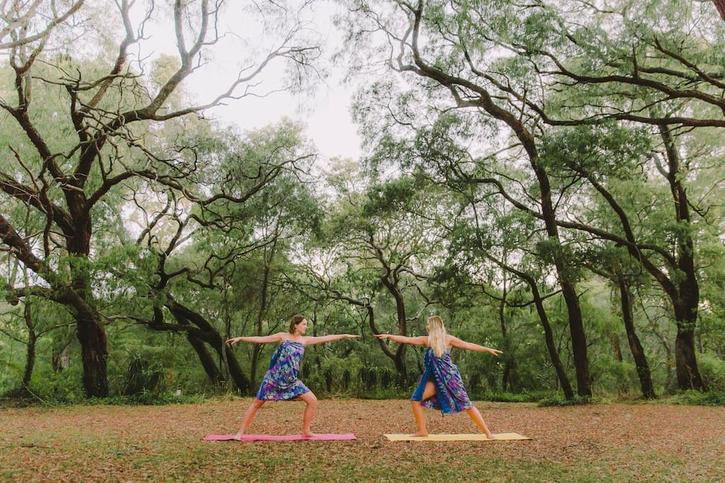 Yoga under the trees can be organised through our onsite day spa Om Day Spa Yallingup