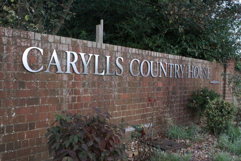 Carylls from the road - just at the main entrance