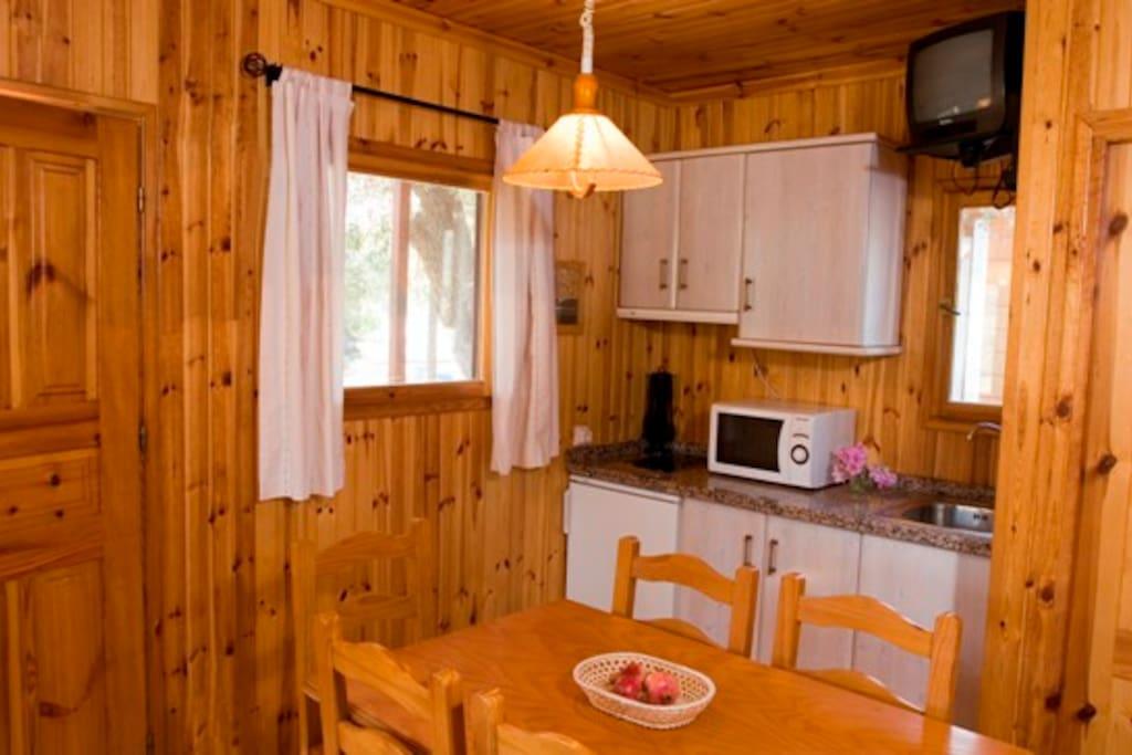 Zona de estar con cocina