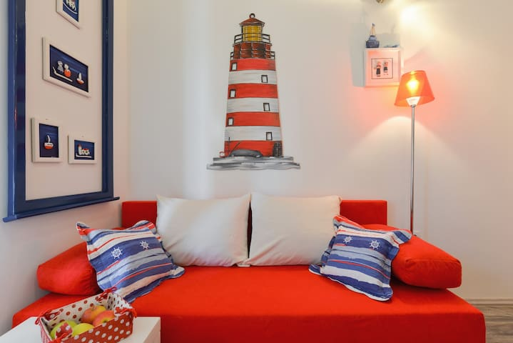 Unique hend made lighthouse...