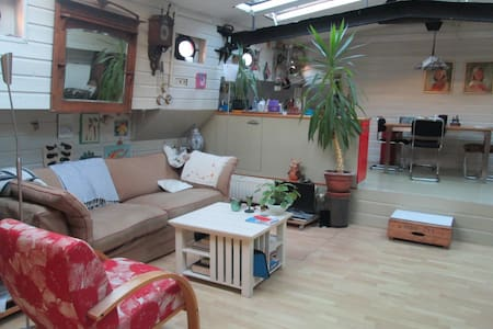 Spacious houseboat, peaceful and quiet environment - Amsterdam